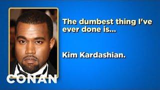 getlinkyoutube.com-Celebrity Survey: Gary Busey, Johnny Depp, Kanye West Edition - CONAN on TBS