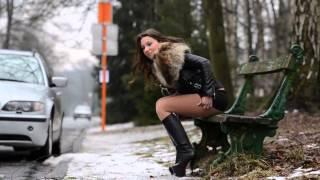 getlinkyoutube.com-Hooker in fox fur jacket raccoon) & high heels boots  PUBLIC FLASHING & furfetish