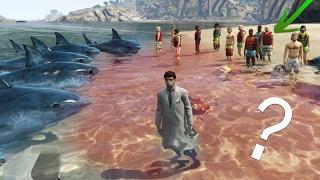 getlinkyoutube.com-¿Pueden OLER LA SANGRE los Tiburones de GTA V? - Tiburones Vs Personas Vs Tren!