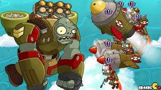 getlinkyoutube.com-Plants Vs Zombies 2: Sky Castle World EPIC AIR FORCE WAR BATTLE! (PVZ 2 China)