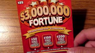 SOMETHING TOLD ME TO BUY IT!!..$3,000,000 FORTUNE LOTTERY TICKET SCRATCH OFF!!