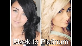 getlinkyoutube.com-How I Bleached My Hair From Black to Platinum Blonde