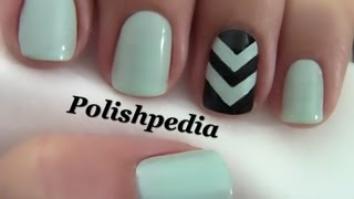getlinkyoutube.com-Chevron Accent Nails