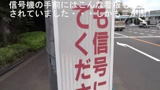 getlinkyoutube.com-【看板も設置されているのに信号無視】違反車が白バイに誘導されて東名へ