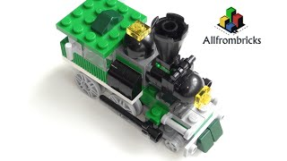getlinkyoutube.com-Lego Creator 4837 Mini Trains classic steam locomotive - Speed Build 4K