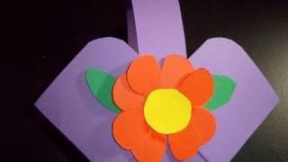 getlinkyoutube.com-Manualidades de papel: canasta para golosinas - manualidadesconninos