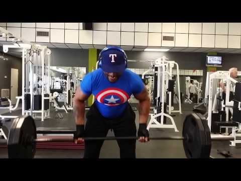 Bent over barbell rows(reverse grip) 225lbs
