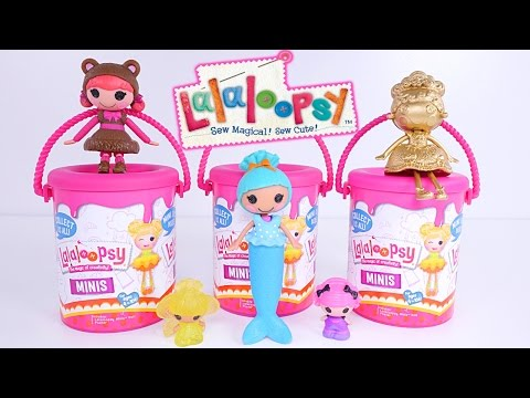 Lalaloopsy Surprise Paint Buckets - Minis Style n' Swap Mermaids Tinies Buttons Toys 2017