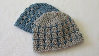 getlinkyoutube.com-How to crochet a block stitch baby hat / beanie