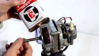 Fixing a seized oscillating fan motor