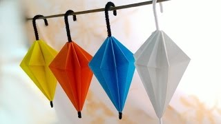 getlinkyoutube.com-Origami Umbrella / พับกระดาษ เป็นร่ม