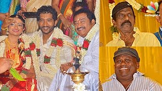 getlinkyoutube.com-Goundamani, Senthil attends  Pandu Son Wedding Reception | Comedy Actor