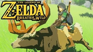 The Legend of Zelda Breath of the Wild - Switch Gameplay - Riding Deer, Horse Dance, Green Tunic