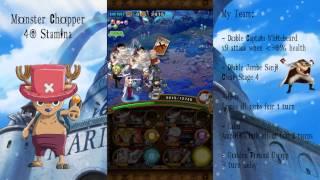getlinkyoutube.com-One Piece Treasure Cruise l Monster Chopper 40 Stamina *Whitebeard Team