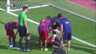 getlinkyoutube.com-Lionel Messi se lesiona septiembre 2015 HD     BARCELONA VS LAS PALMAS  26/09/2015
