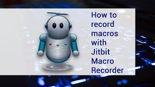 getlinkyoutube.com-How to record macros with Jitbit Macro Recorder | video tutorial by TechyV
