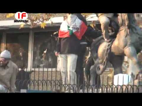 Iran - Tehran 29.11.2011.Savage Basiji forces attack British embassy - Part 3