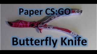 getlinkyoutube.com-How to make Paper Butterfly Knife/Balisong from CS:GO