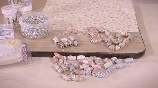 getlinkyoutube.com-How To Make Paper Beads Arts & Crafts Tutorial
