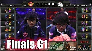 SK Telecom T1 vs KOO Tigers | Game 1 Grand Finals LoL S5 World Championship 2015 | SKT vs KOO G1
