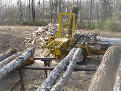Wood processor lawn tractor