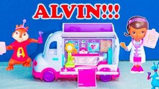 getlinkyoutube.com-DOC MCSTUFFINS + ALVIN AND THE CHIPMUNKS Doc McStuffins Doc's Mobile Clinic Race Doctor Alvin Video