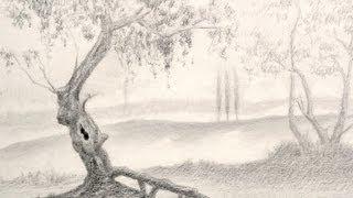 getlinkyoutube.com-How to Draw a Tree - Landscape