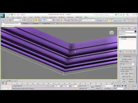 How 3ds Max works? [Sweep Modifier] - Arabic