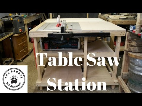 Table Saw Station for the GTS 10 J Youtube Thumbnail