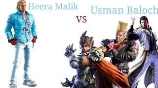 Tekken 7 FR Heera Malik(Steve Fox) VS Usman Baloch(Lars,Claudio,Paul) |Tekken Ruler