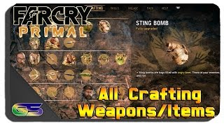 getlinkyoutube.com-Far Cry: Primal - All Crafting Items and Weapons Unlocked and Fully Upgraded Showcase Gameplay
