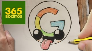getlinkyoutube.com-COMO DIBUJAR LOGO GOOGLE KAWAII PASO A PASO - Dibujos kawaii faciles - How to draw google