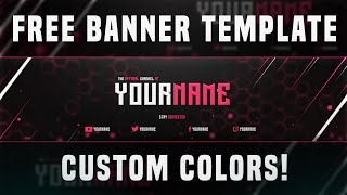 getlinkyoutube.com-(BEST) FREE YouTube Banner Template 2015 - Custom Colors