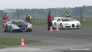 getlinkyoutube.com-Bugatti Veyron w/ Mansory Exhaust vs Bugatti Veyron Grand Sport