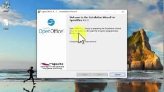 getlinkyoutube.com-Open Office on Windows 10