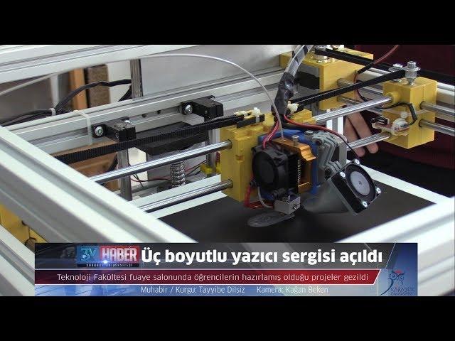 KBÜ Teknoloji Fakültesi Üç boyutlu yazıcı sergisi