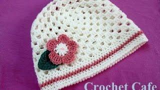 getlinkyoutube.com-كروشيه طاقية بغرزة الجرانى | كروشيه كافيه|Crochet Cafe