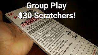 getlinkyoutube.com-$900 GROUP PLAY - the Scratching Begins! Full Book of $30 Scratchers
