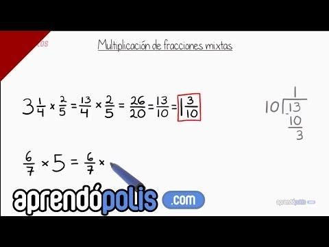 Multiplicación de fracciones mixtas
