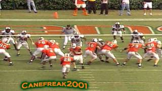getlinkyoutube.com-2001 Miami Hurricanes - Greatest Football Team Of All Time