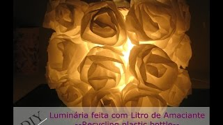 getlinkyoutube.com-Luminária feita com litro de Amaciante-Recycling Plastic Bottle