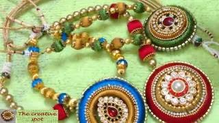 getlinkyoutube.com-How to attach silk thread pendant with chain !!!!-TUTORIAL