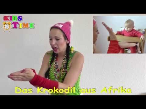 Das Krokodil aus Afrika | Lustiges Kinderlied mit Text