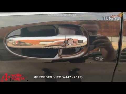 Хром накладки на ручки Мерседес Вито 447/Хромированные накладки дверных ручек Mercedes Vito W447
