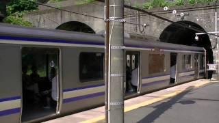 横須賀線田浦駅 〜先頭車両はドアカット〜