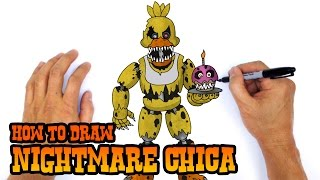 getlinkyoutube.com-How to Draw Nightmare Chica (FNAF 4)- Step by Step Art Lesson