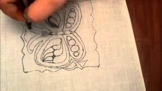 getlinkyoutube.com-Zentangle and Punchneedle Butterfly