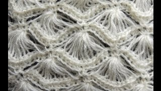 getlinkyoutube.com-Crochet : Punto Abanico # 4