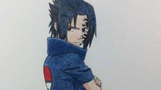 getlinkyoutube.com-Drawing Sasuke Uchiha