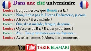Dialogue en français 01 lire écouter et répéter HD